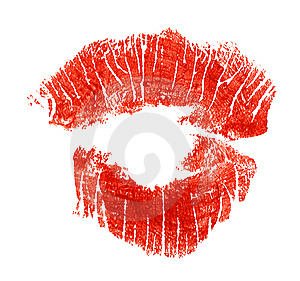 Imprint Of Lipstick Stock Photos - Image: 6294743