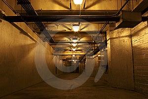 Underground Hallway Royalty Free Stock Image - Image: 6295556