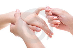 Palm massage Royalty Free Stock Photo