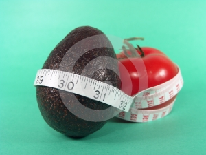 Tomato Avocado Measuring Stock Images - Image: 631924