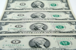 Sheet Of Two-dollar Bills Stock Images - Image: 636104