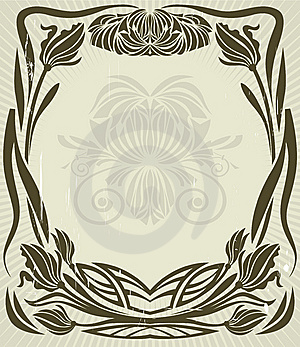 Vintage Floral Frame Royalty Free Stock Photo - Image: 6300635