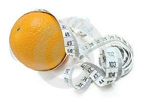 Orange With Measuring Tape Royalty Free Stock Image - Image: 6306556