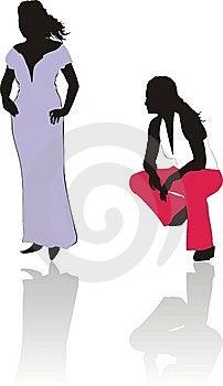 Women Silhouettes. Fashion Style Stock Photography - Image: 6307022