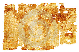 Aged World Map Stock Photo - Image: 6308720
