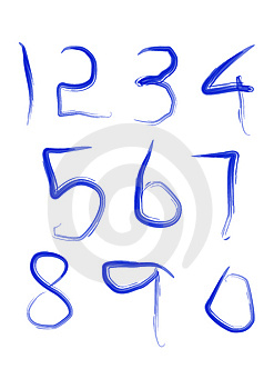 Digits Stock Photo - Image: 6309890