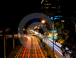 Borneo Traffic Blur Stock Photo - Image: 6311680