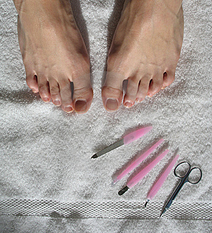 Beginning Of A Pedicure Royalty Free Stock Image - Image: 6313986