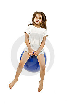Young Girl On A Space Hopper Royalty Free Stock Photography - Image: 6314697