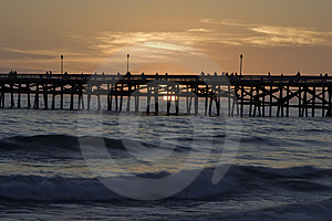 San Clemente Pier At Sunset Stock Image - Image: 6315131