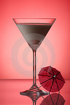 Milky Cocktail With Umbrella Stock Image - Image: 6320461