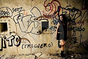 Sad Goth Woman Stock Photos - Image: 6320773