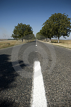 Empty road Stock Photography