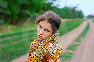Portrait Girl On Nature Royalty Free Stock Image - Image: 6323866