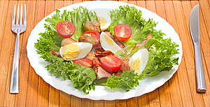 Freshness healthy salad Stock Photos