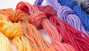 Close-up Of Colorful Buns Of Threads Royalty Free Stock Photo - Image: 6325585