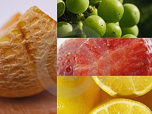 Fruit Collage Free Stock Images