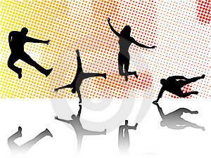 Sport Silhouettes Stock Photos - Image: 6326273