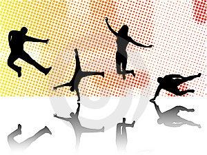 αθλητισμός σκιαγραφιών Στοκ Φωτογραφίες - εικόνα: 6326273