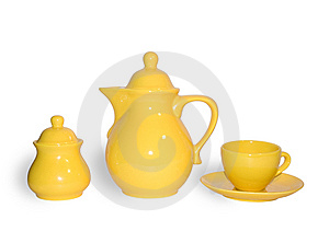 Jug A Cup And A Sugar Bowl Royalty Free Stock Images - Image: 6326589