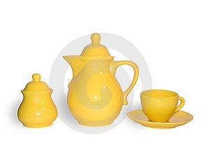 Jug A Cup And A Sugar Bowl Royalty Free Stock Images - Image: 6326589