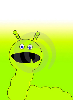 Green Caterpillar Monster 2 Stock Image - Image: 6327781