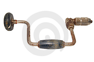 Rusty Hand Drill Isolated Royalty Free Stock Image - Image: 6328196