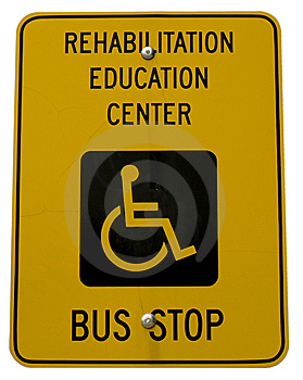 Yellow Handicap Sign Royalty Free Stock Photos - Image: 6329608