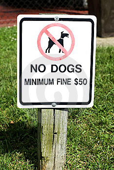 No Dogs Sign Royalty Free Stock Images - Image: 6330249