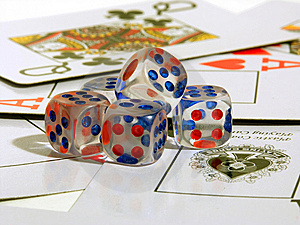 Playing Bones And Playing Cards Stock Image - Image: 6330771
