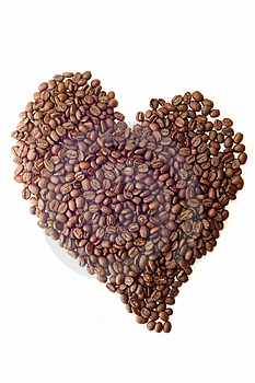 Coffee Beans As Heart Stock Images - Image: 6334484
