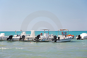 Tropical Sea With Motorboat Stock Photo - Image: 6335030
