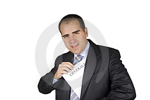 Businessman With A Contract Stock Images - Image: 6335424