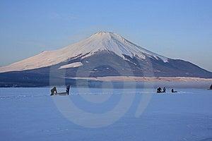 Mt. Fuji Over Freeze Up Lake Yamanaka Stock Photos - Image: 6335833