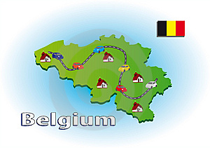 Traveling In Belgium Royalty Free Stock Photos - Image: 6338918