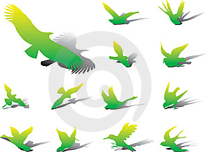 Set Icons - 13A. Birds Royalty Free Stock Images - Image: 6339559