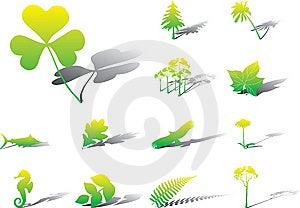 Set Icons - 16A. Nature Stock Image - Image: 6339681