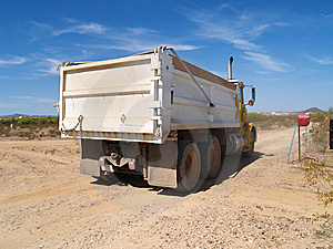 Dump Truck In Excavation Area Stock Photo - Image: 6340420
