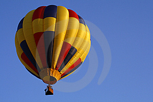 Red, Yellow, Blue Hot Air Balloon 6 Stock Photography