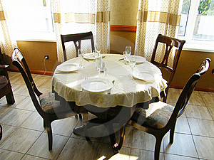 Table At Restaurant Royalty Free Stock Images - Image: 6342749