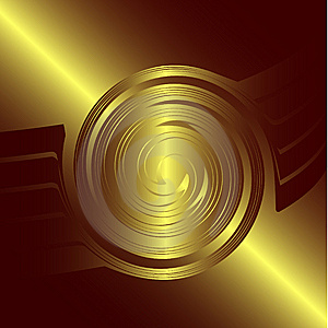 Abstract Golden Logo Royalty Free Stock Images - Image: 6348409