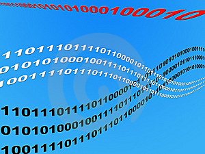 Wave Binary Data Stock Photos - Image: 6348753