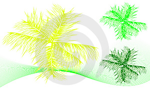 Tropical Leaf Set Royalty Free Stock Images - Image: 6350139