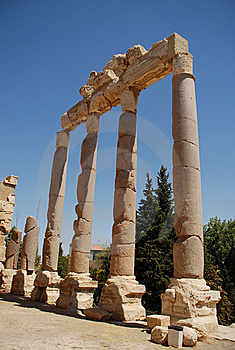 Roman Ruins Bacchus Temple Royalty Free Stock Photography - Image: 6350167