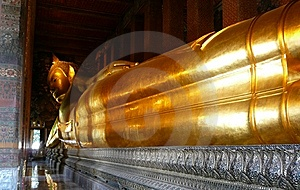 Sleeping Gold Buddha At Wat Po Royalty Free Stock Photo - Image: 6350215