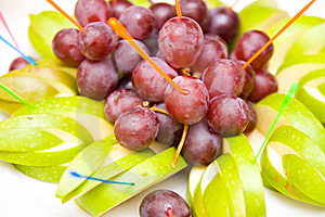 Green Apples And Red Vine Stock Image - Image: 6351521