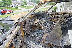 Car Fire Stock Photo - Image: 6355940