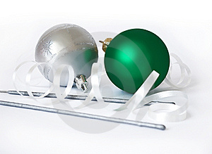 Christmas Spheres And Sparks Stock Image - Image: 6357731