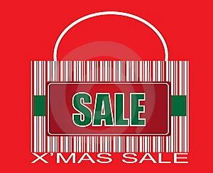 X'Mas SALE Barcode Bag Royalty Free Stock Photos - Image: 6359838
