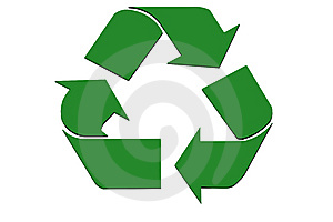 Abstract Recycle Symbol Stock Photography - Image: 6360192